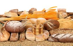 Bread composition. Stock Photos
