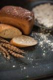 Bread composition with wheats Stock Photos