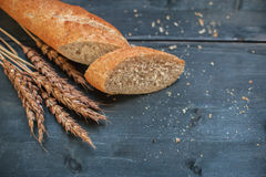 Bread composition with wheats Stock Photography
