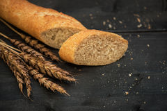 Bread composition with wheats Stock Photo