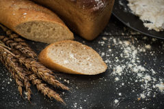 Bread composition with wheats Stock Image