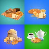 Bread Concept Icons Set Stock Photography