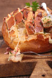 Bread cooked with cheese Royalty Free Stock Photo