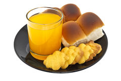 Bread, cookies and orange juice Royalty Free Stock Photography