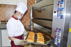 Bread cooking Royalty Free Stock Image