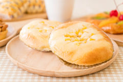 bread with corn and mayonnaise Stock Photo