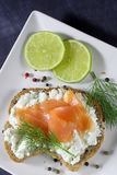 Bread with cottage cheese Royalty Free Stock Images