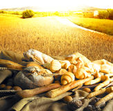 Bread in the country Royalty Free Stock Image