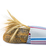 Bread covered with a dishcloth Stock Photo