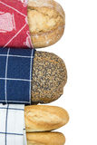 Bread covered with a dishcloth Stock Photography