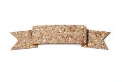 Bread crisp banner Stock Image