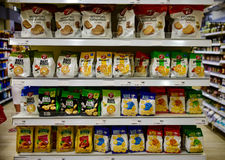 Bread crisps products in department store Stock Image