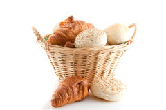 Bread and croissant Royalty Free Stock Photos