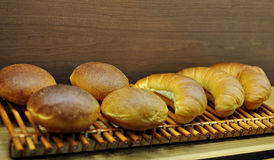 Bread and croissants Stock Photography