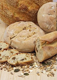 Bread, crops and seeds Royalty Free Stock Photo