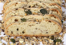 Bread, crops and seeds Royalty Free Stock Image