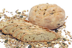 Bread, crops and seeds Stock Images