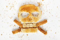Bread Crossbones Stock Photo