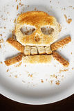 Bread Crossbones Royalty Free Stock Images