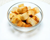 Bread croutons Stock Photography