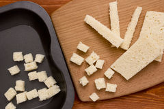 Bread croutons Royalty Free Stock Photography