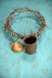Bread, Crown and Crown of Thorns Royalty Free Stock Images