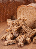 Bread crumb with black bread Royalty Free Stock Photos