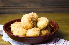 Bread crumb dumplings in a bowl Stock Images