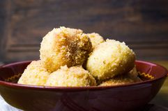 Bread crumb dumplings in a bowl Royalty Free Stock Photo