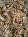 Bread crumbles. Closeup view of bread crumbles Stock Photos