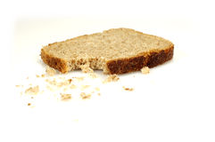 Bread with crumbs (3) royalty free stock photography