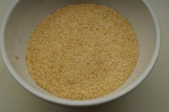 Bread crumbs. In a bowl Royalty Free Stock Photography