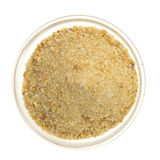 Bread crumbs in a glass bowl Royalty Free Stock Image
