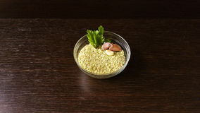 Bread crumbs. In a little cup Royalty Free Stock Photo