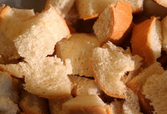 Bread Cubes Royalty Free Stock Photos