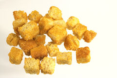 Bread cubes Royalty Free Stock Image