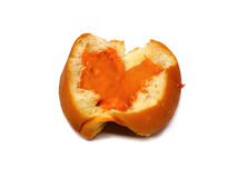 Bread custard orange cream Royalty Free Stock Photos