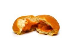 Bread custard orange cream Stock Image