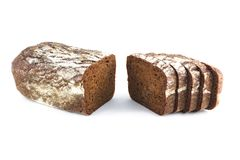 Bread is cut Royalty Free Stock Photo