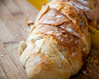 Bread. Cut by a baker royalty free stock photography