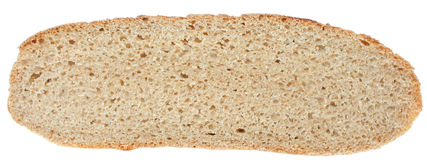 Bread cut close up top view Stock Image