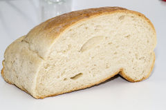 Bread. Cut loaf of bread loaf Stock Photo