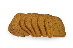bread cut rye royaltyfria bilder