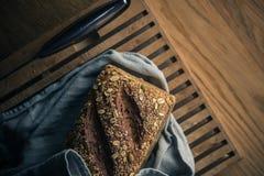 Bread on cutting board Stock Photos