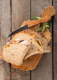Bread on a cutting board Royalty Free Stock Image