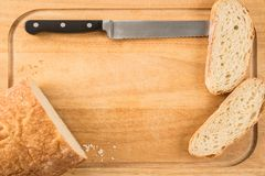 Bread on a cutting board Royalty Free Stock Photo