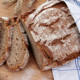 Bread on cutting board Royalty Free Stock Image