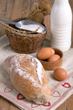 Bread and Dairy products Royalty Free Stock Photos