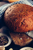 Bread on a dark background Royalty Free Stock Images