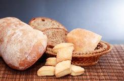 Bread On Dark Royalty Free Stock Photography